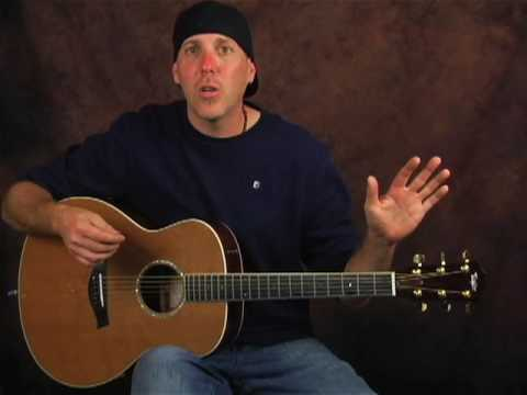 Learn how to play acoustic guitar lesson on chucking cowboy chords strum patterns