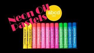 눈으로 보이는 그대로 그려지는 형광 크레파스, real neon color crayon!