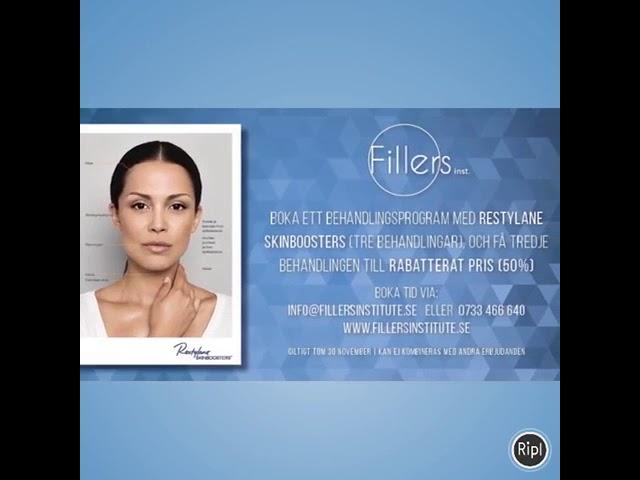 Fillers Institute Stockholm - Kontakta oss gärna om du vill höra mer om våra behandlingar