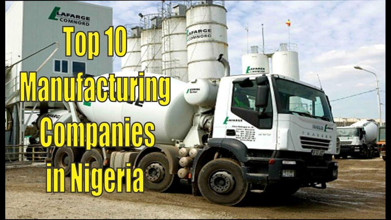 Top 10 Manufacturing Companies in Nigeria