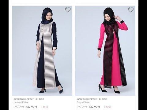 Tozlu Giyim Tesettür Elbise Modelleri 2017