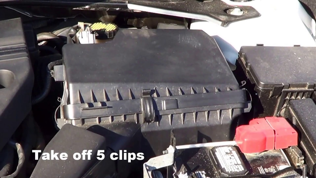how to change air filter in a 2015 nissan altima  [ 1280 x 720 Pixel ]