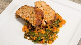 Italian Meatloaf: White Bean And Turkey Polpettone With Swiss Chard Marinara