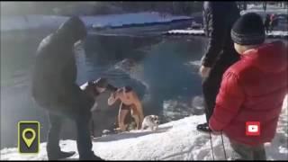 Настоящий мужик из Симферополя ради собаки бросился в ледяную прорубь