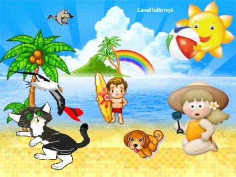 Canci n infantil el verano ha llegado youtube - Dibujos pared habitacion infantil ...