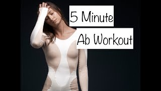5 MINUTE AB WORKOUT | MONICA AKSAMIT