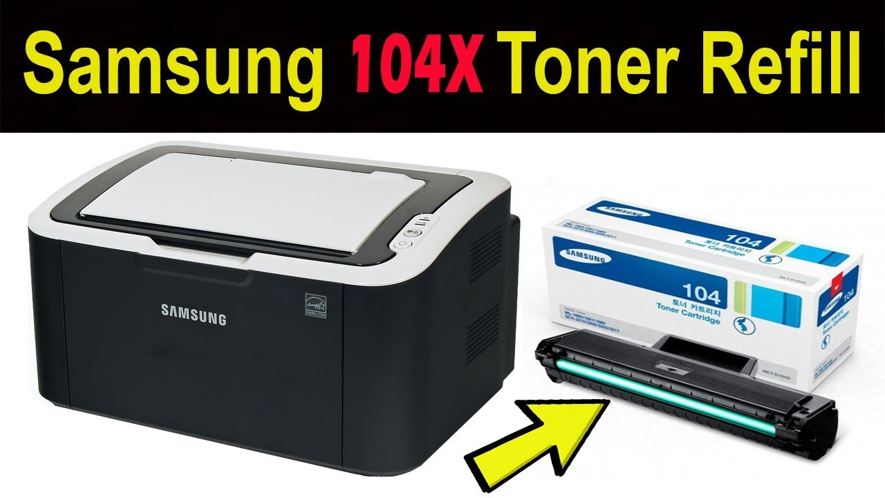 How to refill Samsung 104X Toner used for ML-1660/ 1665/1865w/1666/1667/1675/1865/SCX-3205w - YouTube
