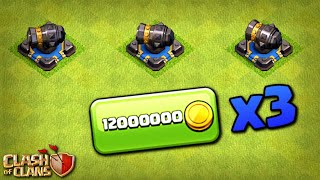 TRIPLE CANNON! TH12 Farm to Max | Clash of Clans