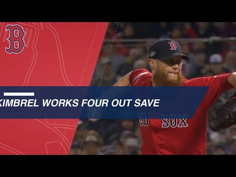 Craig Kimbrel earns four-out save against the Yankees in Game 1
