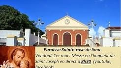 Messe de Saint Joseph 1er mai _ Paroisse Sainte-Rose de lima