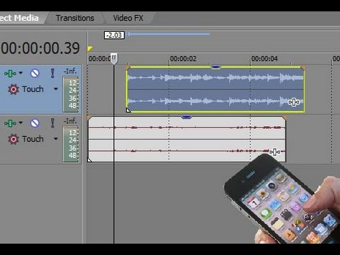 how to add a phone blur to sony vegas
