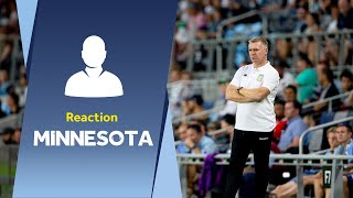Dean Smith's Minnesota United reaction