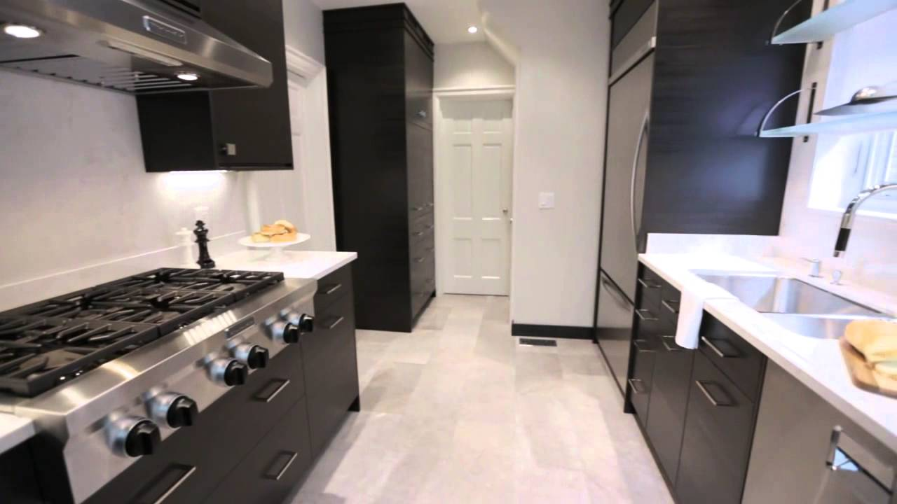 Interior Design How To Design A Sleek Galley Kitchen Youtube