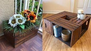 Wooden Crates Creative Ideas