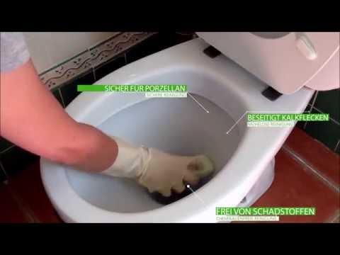 Hartnäckigste Kalkflecken und Urinstein entfernen aus der Toilette ...