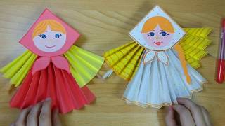 как сделать куклу из бумаги своими руками видео поэтапно