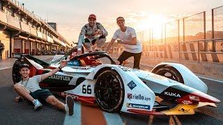 UNSER ERSTES MAL | Formel E Rennstrecke | Daniel Abt