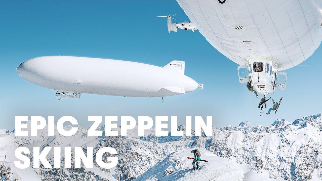 First Ever Zeppelin Ski Drop