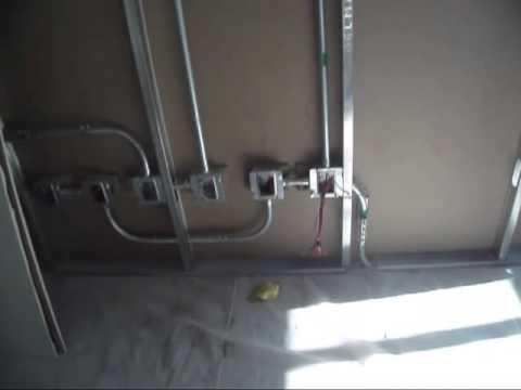 01 instalacion electrica en muros de tablaroca 01 youtube - Chimeneas electricas con vapor de agua ...