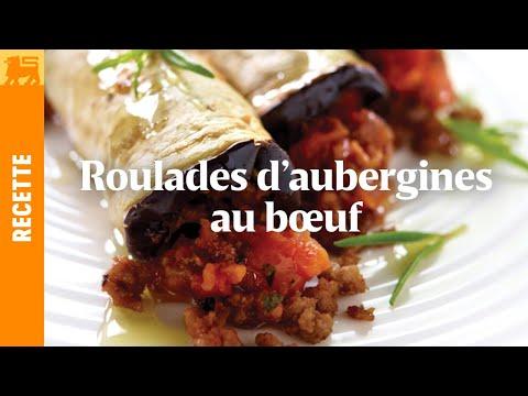 Roulades d'aubergines au bœuf