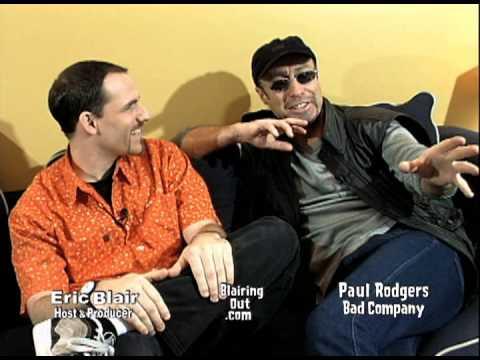 Bad Company / Queen singer Paul Rodgers talks w Eric Blair 1999 full 26min edit
