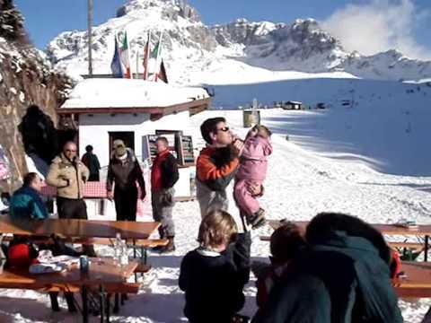 Esquiando en Barzio-Italia