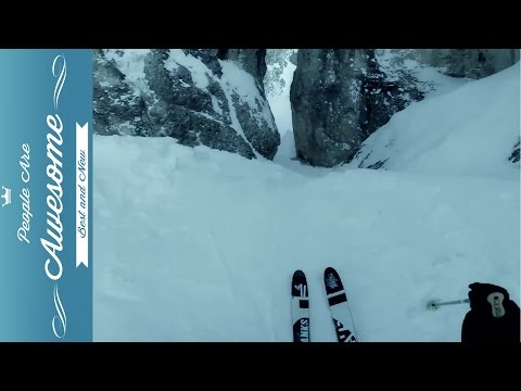 GoPro Extreme Downhill Skiing   38 People Are Awesome