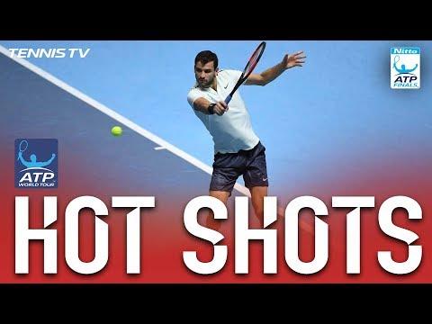 Hot Shot: Dimitrov Cracks Backhand Return Winner Nitto ATP Finals 2017 Round Robin