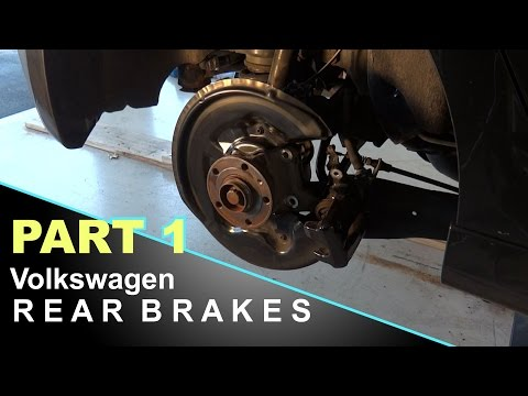 How To Replace Volkswagen Brake Rotors and Pads | Golf R  [PART 1]