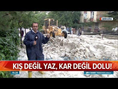 Ankara'yı yağmur ve dolu vurdu - Atv Haber 28 Mayıs 2018