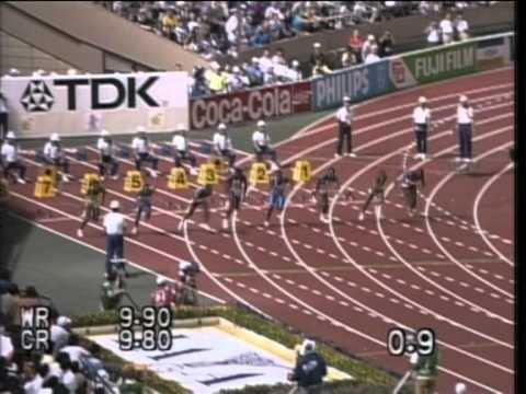 Carl Lewis-100m.WR,Tokyo,1991 World Championships