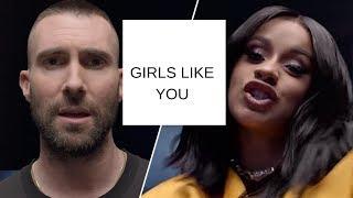 Maroon 5  ft  Cardi B - Girls Like You (Lyrics)