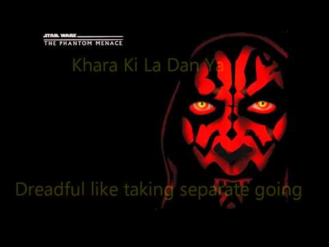 Duel of the Fates English and Sanskrit