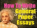 How To Write General Paper Essays