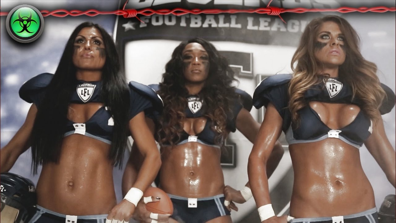 Bikini football video