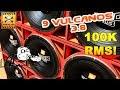PRESSÃO ABSURDA: 9 JBL VULCANO 3.8 15 Pol + FULL TRAP + SD 100 000 RMS