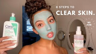 the long awaited skincare routine | my secret to clear skin revealed