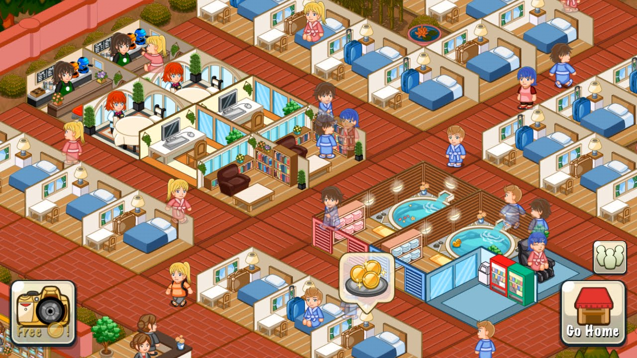 Hotel Story Build Design Your Dream Resort To Richness Android - Hotel design games