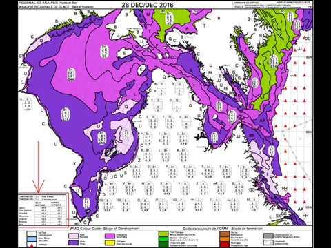 Arctic sea-ice + Hudson Bay - December 2016