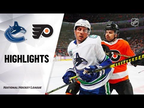 NHL Highlights | Canucks @ Flyers 11/25/19
