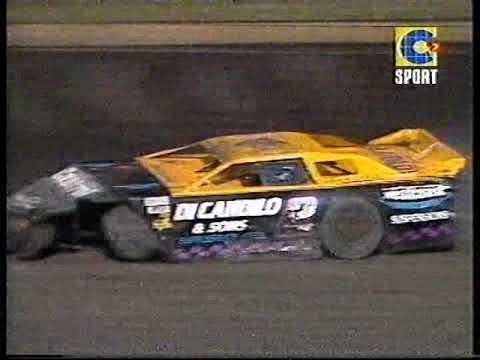 2001 Late Model Sedan Heat & Feature Race - Perth Motorplex. - dirt track racing video image