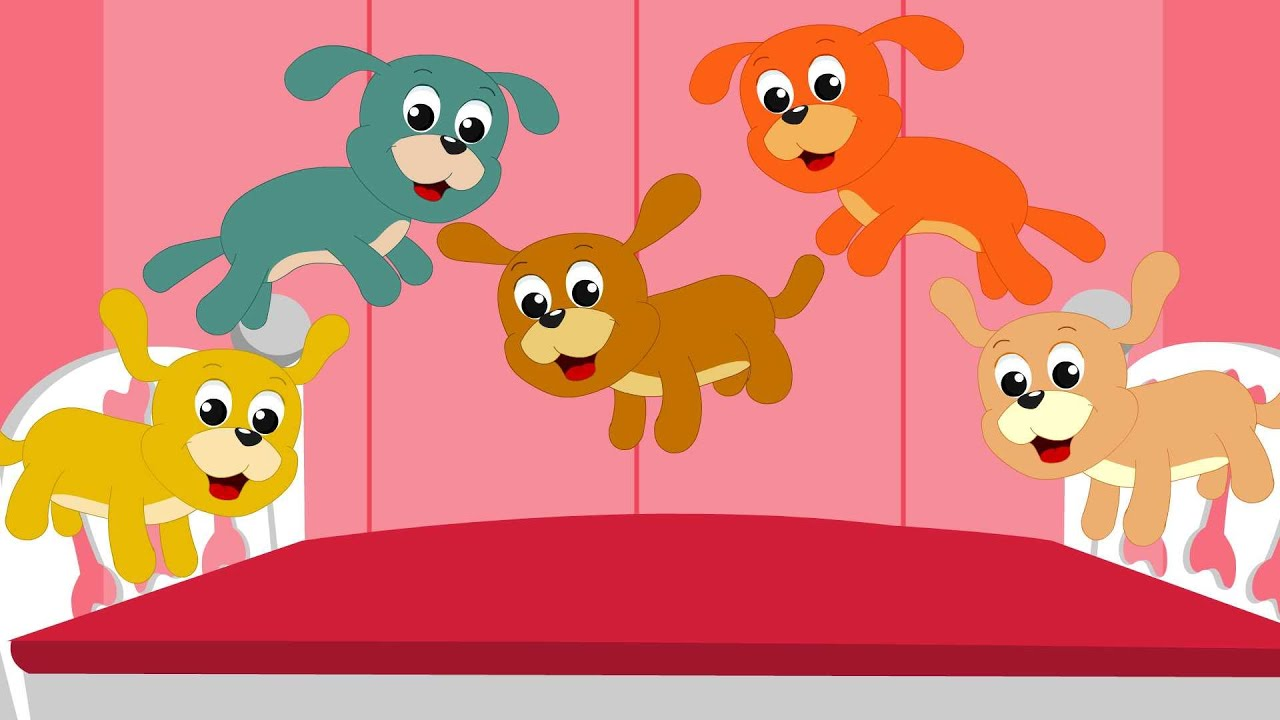 Nursery Rhymes By Kids Baby Club Five Little Puppies Rhyme You