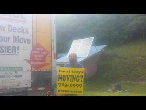 Bruce Hensley at Asheville Truck Sales reviews solar panels off the grid Western North Carolina