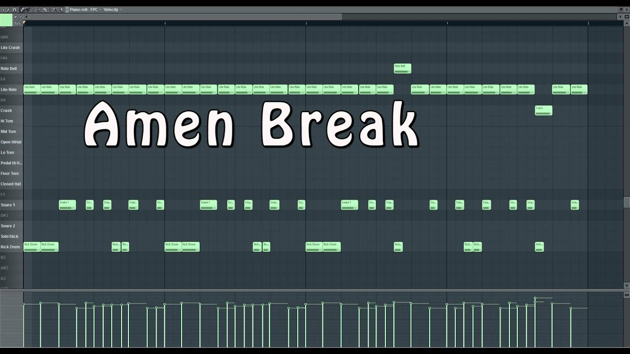 Amen Break Tutorial FL Studio - YouTube