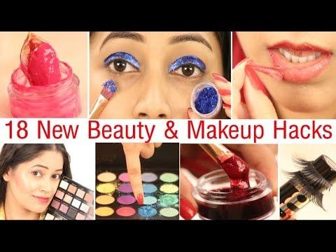 18 रोज़ काम आने वाले Beauty & Makeup Hacks जो आपकी जिंदगी और आसान बना दे|Be Natural thumbnail
