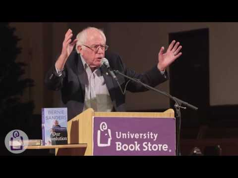 Bernie Sanders introduces Our Revolution at University Book