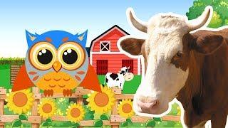 Животные на ферме с Крошкой Совенышем - Развивающее видео для малышей