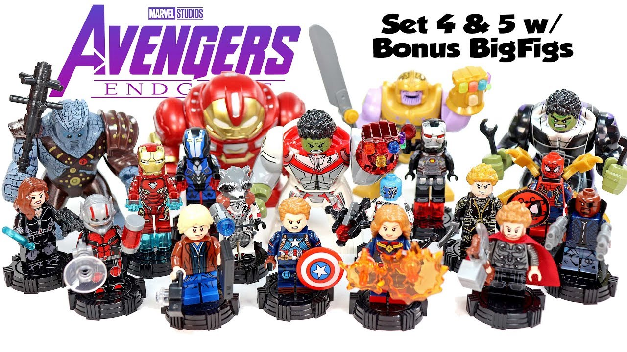 Lego Avengers Endgame Quantum Suits Set 4 & 5 Hulkbuster Thanos Spider-Man  Unofficial Minifigures