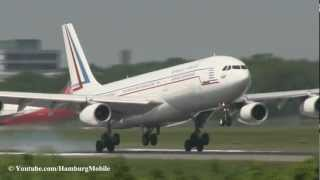✈[FullHD] French Air Force A340-200 Landing @ Hamburg