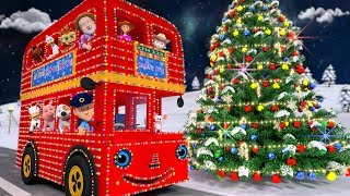Christmas Wheels on the Bus | Xmas Songs for Kids & Nursery Rhymes by Little Treehouse